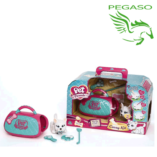 pet parade carry it pet parade trasportino con cagnolino e accessori
