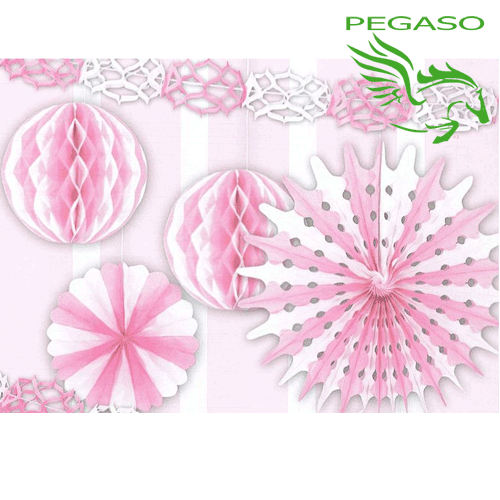 Set Festoni decorativi - Rosa - PB919A