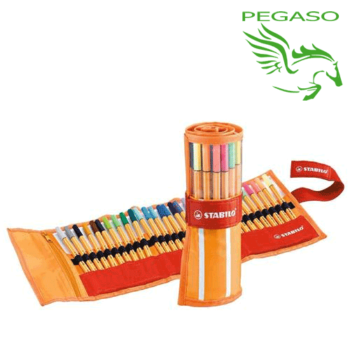 Rollset Pennarelli Fineliner Stabilo Point 88 Astuccio 30 colori assortiti